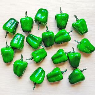 Перчик-декор 4.5 см зеленый (муляж фруктов)