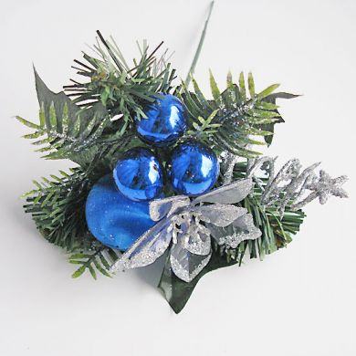 Пика новогодняя синяя